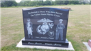 Photo of USMC Veterans memorial from visit to Iowa Veterans Cemetery on July 12, 2017
