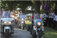 Photo of motorcycles at Ralph Bennett Memorial Service