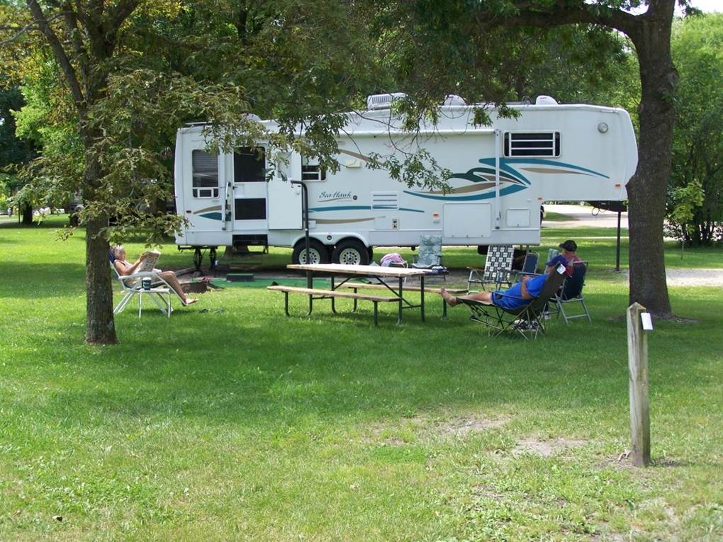 Camping at Hickory Grove Park