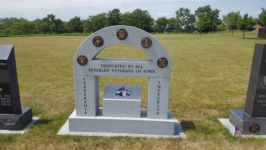 Photo of Disabled Veterans memorial from visit to Iowa Veterans Cemetery on July 12, 2017
