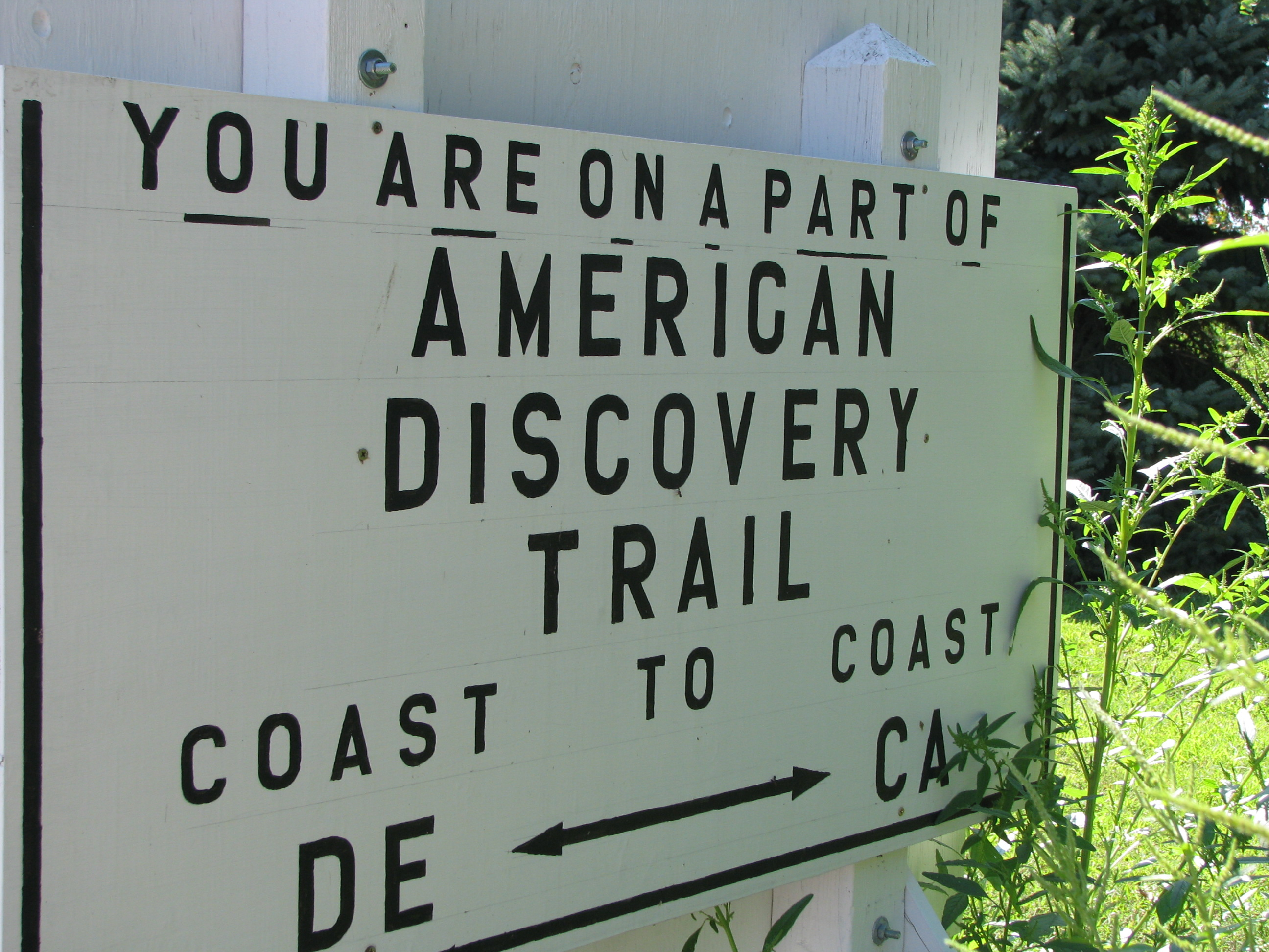 American Discovery Trail Sign