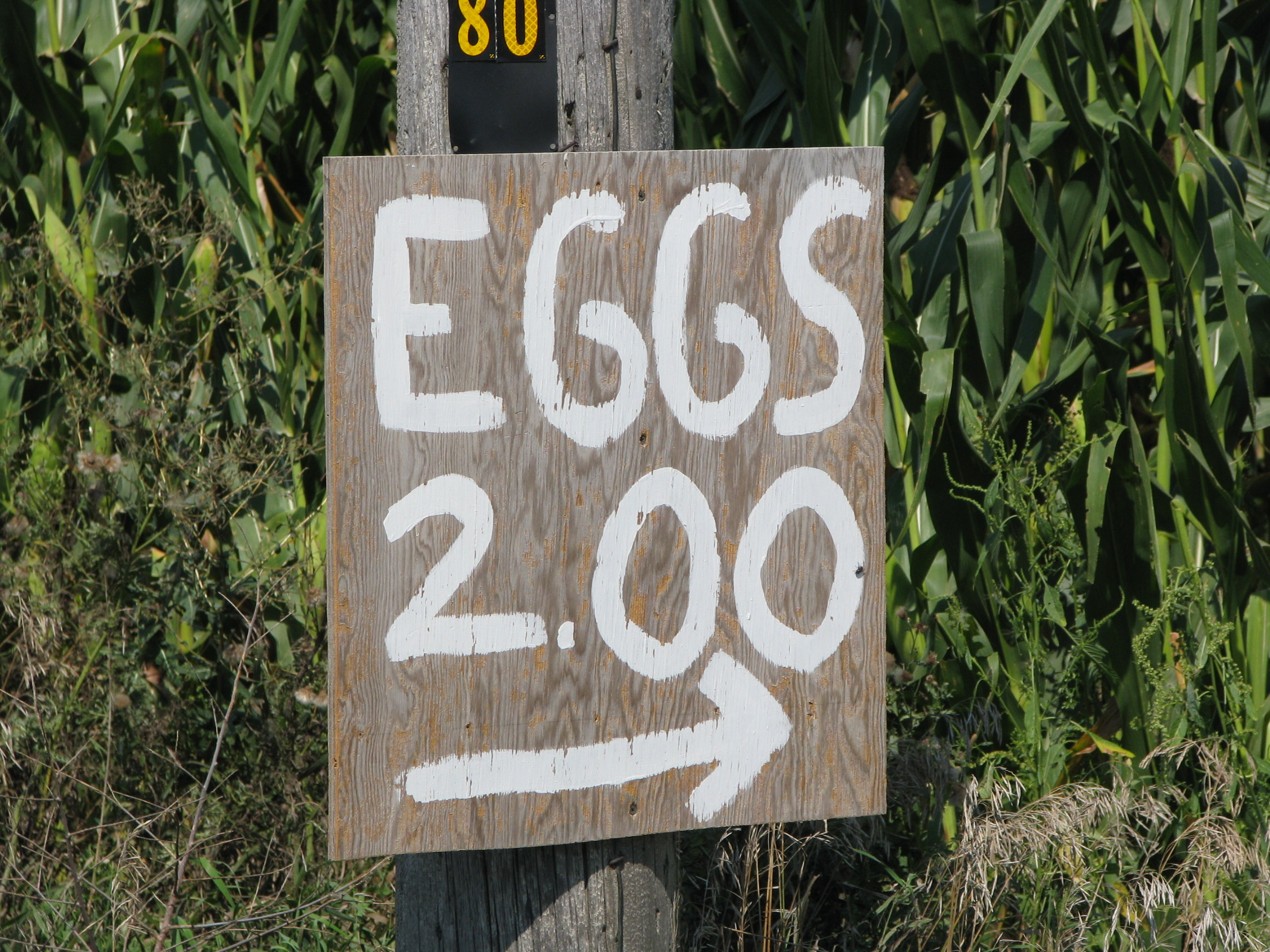 Eggs $2 Sign