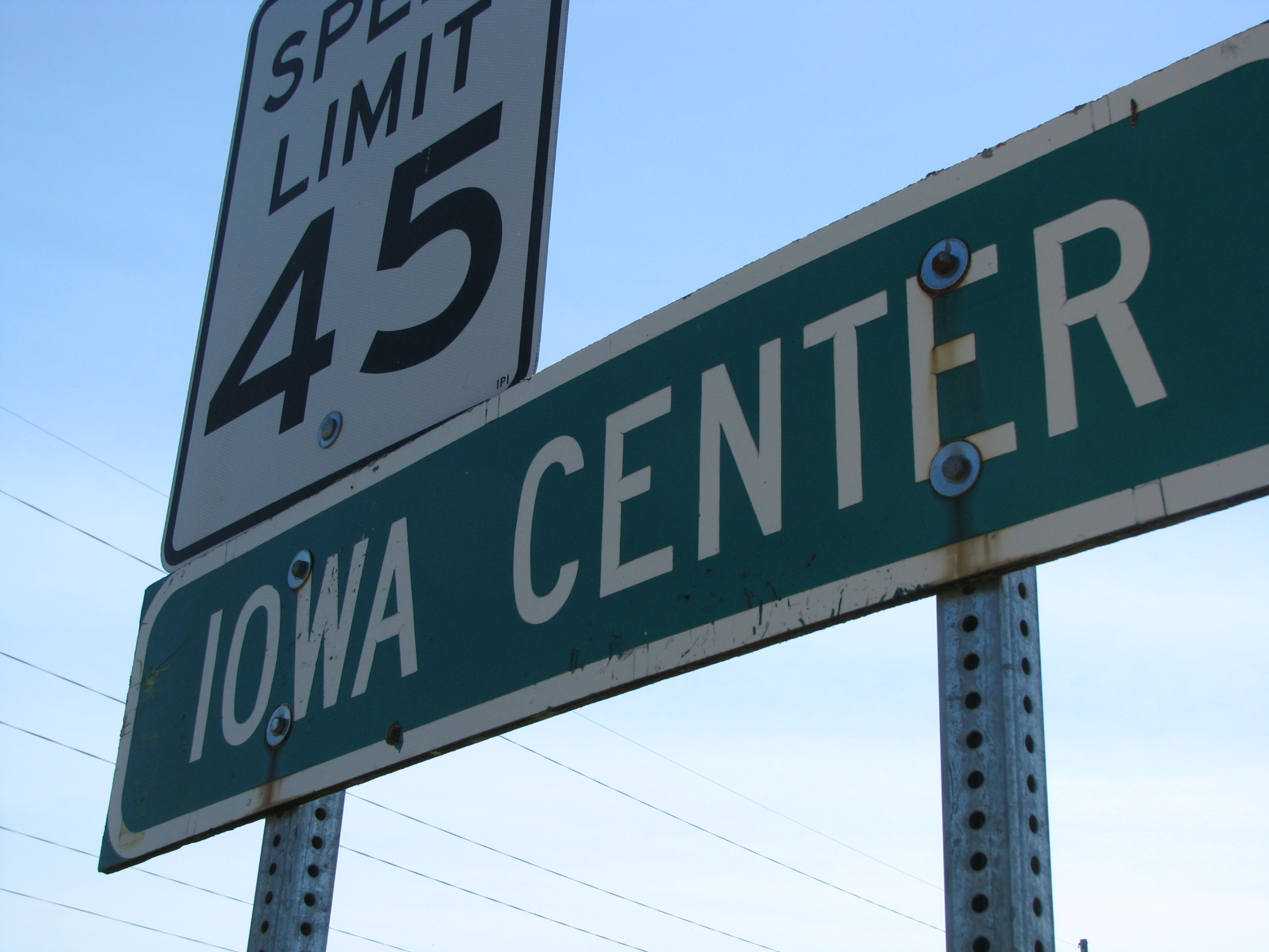 Iowa Center Sign