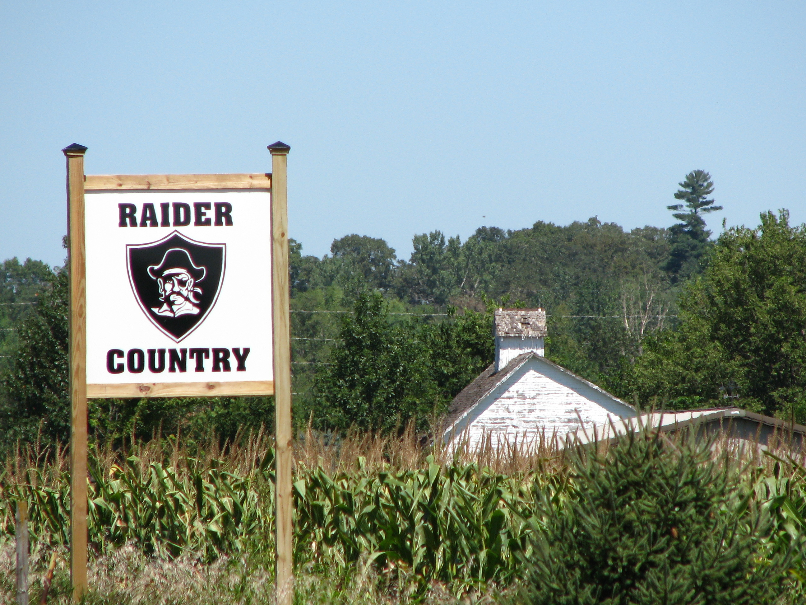 Raider Country sign barn